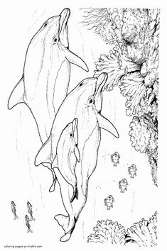 Fish Ocean Castle Seahorse Starfish Water Coloring pages
