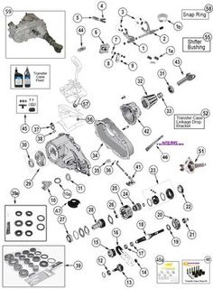 New Process NP231 Transfer Case Parts Exploded View