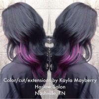 Peekaboo Hair Colors on Pinterest | Peekaboo Hair, Purple ...
