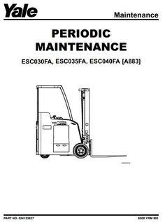 Yale Reach Truck Type C849: MR14(H), MR16 (H, N), MR20 (H