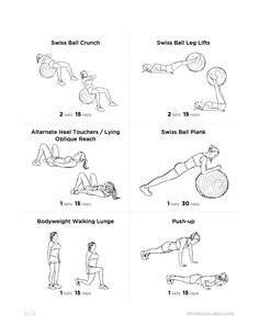 Swiss Ball Back Extensions Primary muscle group: Middle