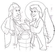 Kids coloring page from What's in the Bible? showing Jesus