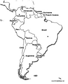 Map of Latin America. Latin America is made up of Mexico