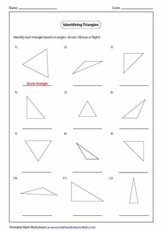 free printable geometry sheets angles in a triangle 1