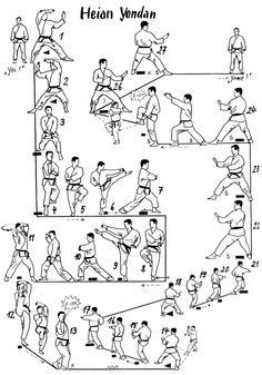 Poster Basis-Kata Shotokan: Heian shodan, Heian nidan