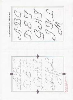 String-art pattern sheets ALPHABET STENCIL (letter height