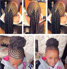 Cute Kids Bun Beauty Is Skin Deep Pinterest Braided Buns