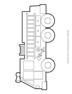 Fire Engine Stencils Construction Stencil Wiring Diagram