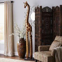 New Giraffe Flowerpot Planter Safari Home Decor Planters So