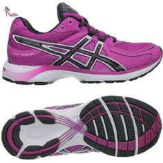 asics chaussures de running pour homme violet purple black white uk