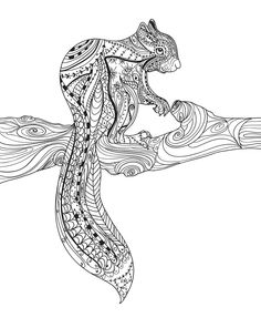 1000+ images about Adult Colouring~Animals~Zentangles on