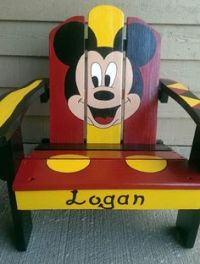 hand painted wooden chairs