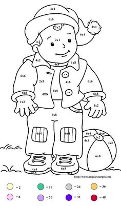 Coloring worksheets, Worksheets and Multiplication on