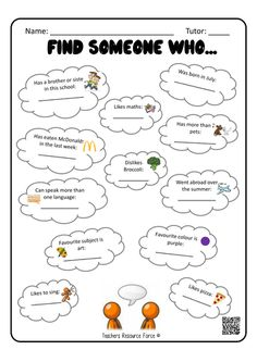 This is an awesome FREE worksheet as a 'getting to know