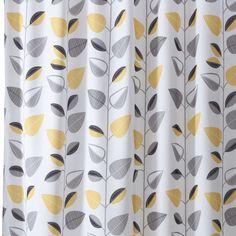 Yellow And Gray Shower Curtain Bathroom Grey & Yellow Shower