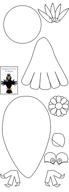 bald eagle crafts can use cut outs of hand for wings