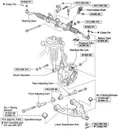 2001 Toyota Tundra Front Suspension Diagram, 2001, Free