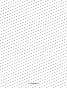 Printable lined paper (no margin) for writing activities
