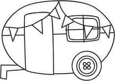 Vintage Travel Trailers Coloring Pages Sketch Coloring Page
