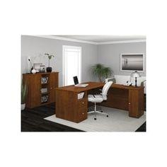 Realspace Broadstreet Contoured UShaped Desk 30H x 65