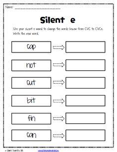 The Lesson Plan Diva: Freebies Silent e/ Not Silent e
