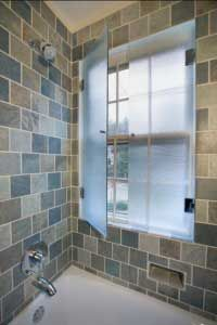 what a cool idea! Have your window in the shower and ...
