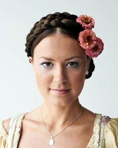 German Braid Hair Styles Pinterest Her Hair Yulia
