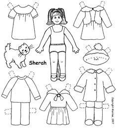 My Own Printable Paperdolls I've made three paper dolls
