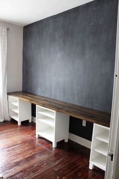 1000 ideas about Long Desk on Pinterest  Bedroom Setup Desks and Family Office