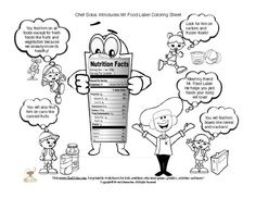 Teaching food labels and the importance of healthy foods