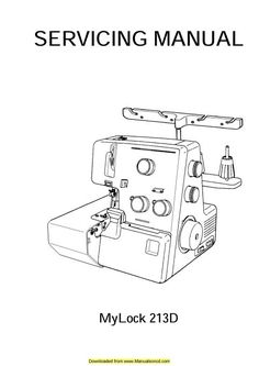 Singer 14U557 Overlock Sewing Machine Manual 2-3-4-5