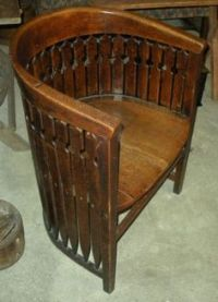 Antique Northwind Face Barrel Chair Circa Late 1800 ...