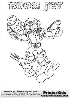 Printable coloring page for kids with Skylanders Swap