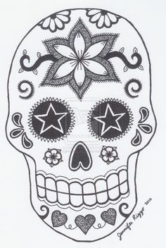 1000+ images about Printable Sugar Skulls Coloring on