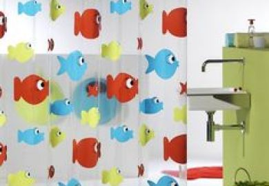 Orange Amp Blue Chevron Shower Curtain