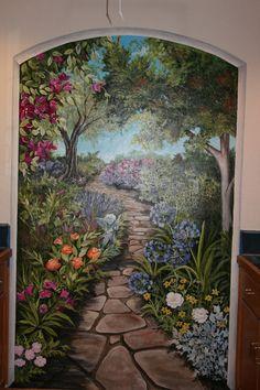 Scenic Murals Window Garden By The Sea Window Wall Art Accent