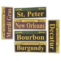 New Orleans Bourbon Street Sign Templates, blanks, add ...