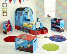 Thomas The Tank Engine Bedroom Furniture Fantastic Feature Toddler Bed Plus Toy Bo Storage