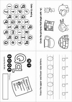 Identify Alphabets Worksheets, Letter Worksheets for