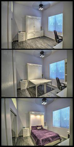 Vertical Murphy Wall Bed and Desk  Murphy desk Murphy