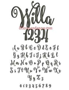 Walt Embroidery Font The Walt embroidery alphabet comes in