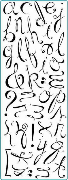 write cursive fancy letters