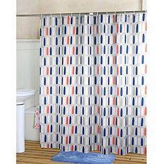 Marvellous Orange Chevron Shower Curtain Images - Best Image ...