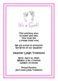 1000 Images About Birth Baby Announcements On Pinterest