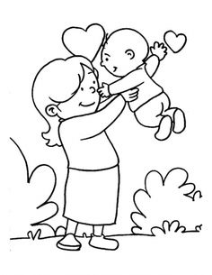 1000+ images about Mothers Day Coloring Pages on Pinterest