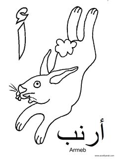 Arabic alphabet, Alphabet and Colouring sheets on Pinterest