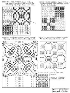 Pattern for a Colonial coverlet in crackle-weave. Mary