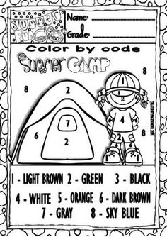 Coloring, Search and Math worksheets on Pinterest