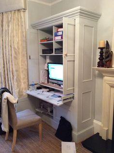 hidden desk area in kitchen  LMID  Office  Pinterest