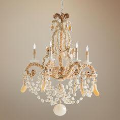Custom Seashell Chandelier Www Elegantshells Living Pinterest Seashells